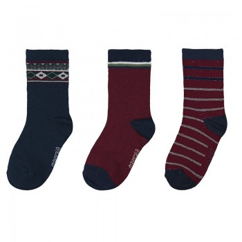 MAYORAL basic set for a boy 3 pairs socks 10136-018