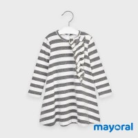 Mayoral stripped dress Steel 4988-63