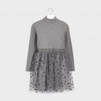 Mayoral tulle dress gray 7960-93