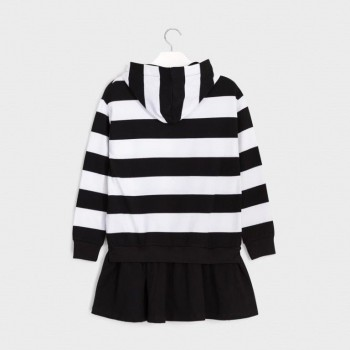 Mayoral knitted dress black and white 7976-10