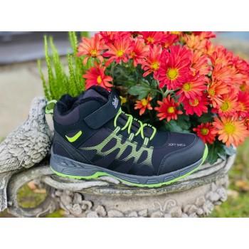 STROLLERS softshell sneakers black/lime