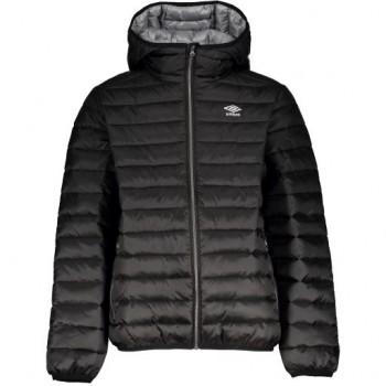 UMBRO Wisp Jr quilted hooded jacket black 172506-060