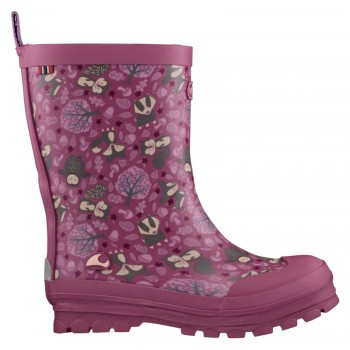 VIKING Jolly Woodland rubber boots d.pink/multi 1-10621-3950