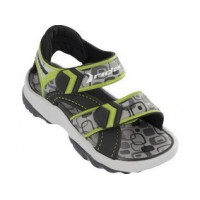 RIDER sandals for small boys, lime/grey/black