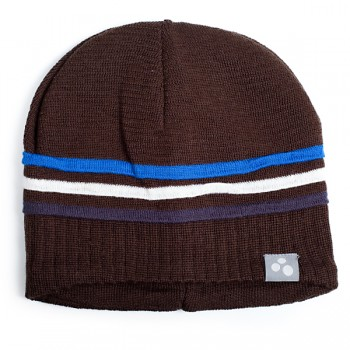 HUPPA kootud müts JOOSEP tumepruun/sin-valge-t.sin-triip 8360AW14-081