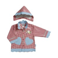 PLAYSHOES rain coat red/gingerbread heart 408593-008