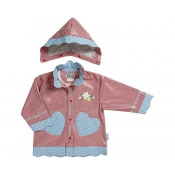 PLAYSHOES rain coat red/gingerbread heart 408593-008