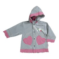 PLAYSHOES rain coat navy/gingerbread heart 408593-011