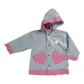 PLAYSHOES rain coat navy/gingerbread heart 408593-011