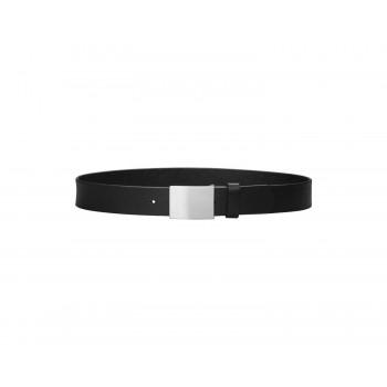 PLAYSHOES black leather belt width 3cm 601510-20