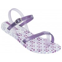 IPANEMA rubber sandals for girls, white/light lilac 81493-ipa-21683