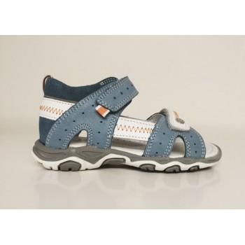 BARTEK leather sandals llight blue/white 61824-342