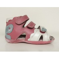 BARTEK leather sandals pink/white 61823-1CA