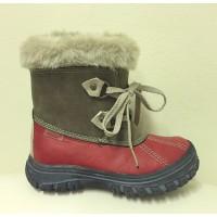 PEDDY saapad punane/pruun luku ja paeltega
