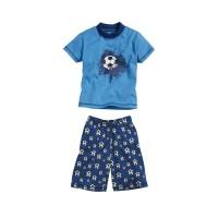PLAYSHOES lühike pidžaama sinine/jalgpall 412002