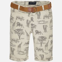 MAYORAL Boy print shorts with belt 6245-65