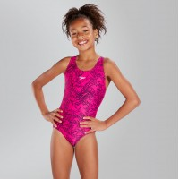 Speedo girls swimsuit pink/black 8-10843B352