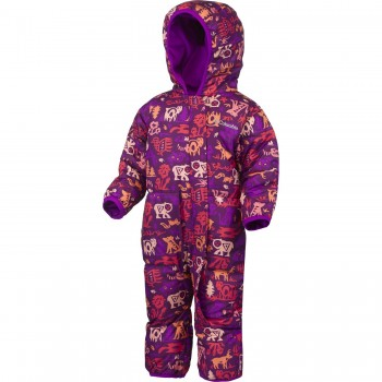 Babies' insulated winter one-piece by Columbia purple SN0219-532