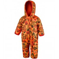 Babies' insulated winter one-piece by Columbia orange SN0219-836