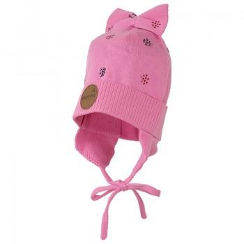 Huppa BECCA Girls` knitted hat pink 80590000-70013