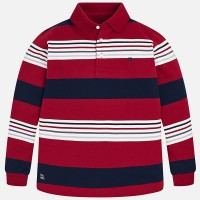 MAYORAL Striped long sleeved polo shirt for boy 7100-59