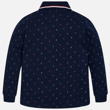 MAYORAL Long sleeved patterned polo shirt for boy 7104-84