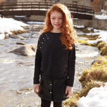 MAYORAL Sparkling fleece sweatshirt for girl 7444-54