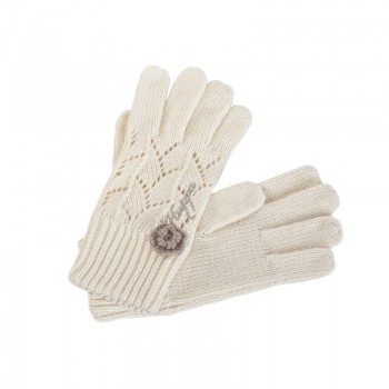 Huppa LEILA knitted gloves white 8208AS13-010
