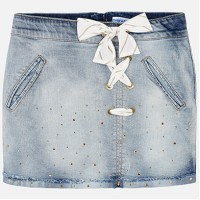 MAYORAL Knot denim skirt for a girl 6903-90