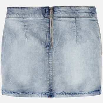 MAYORAL Knot denim skirt for a girl 6903-90