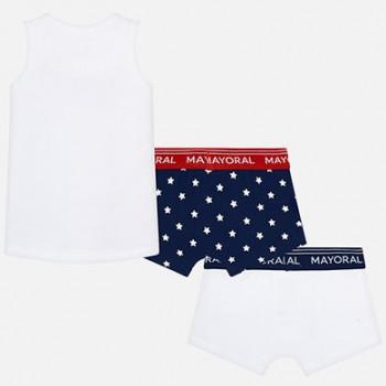 MAYORAL Boxer shorts and vest set for boy 10566-67