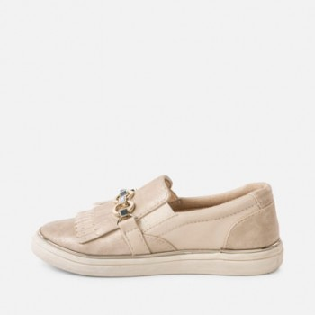 MAYORAL gold Fringe trainers for girl 45009-41