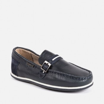 MAYORAL Napa leather moccasins for boys 45073-59