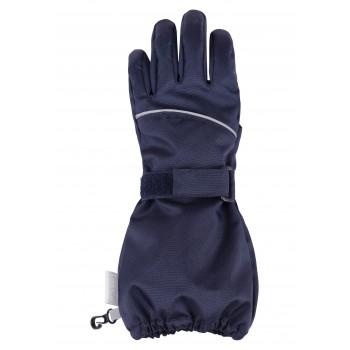 Lassie woven mittens dark blue 727724-6960