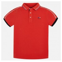 MAYORAL short sleeved red polo shirt for boy 6136-27