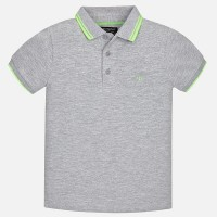MAYORAL short sleeved gray polo shirt for boy 6136-62