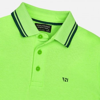 MAYORAL short sleeved green polo shirt for boy 6134-62