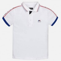MAYORAL short sleeved white polo shirt for boy 6136-26