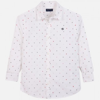 MAYORAL boy long sleeve shirt with ornaments 7117-84