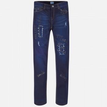 MAYORAL super dark denim long trousers 7503-46