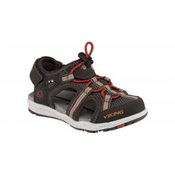 VIKING Thrill charcoal/red sandals  3-44830-7710
