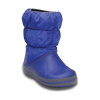 Crocs™ Kids' Winter Puff Boot Cerulean Blue/Light Grey 14613-4BH