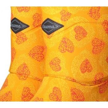 KUOMA Putkivarsi ochre flower winterboots 1203-9353