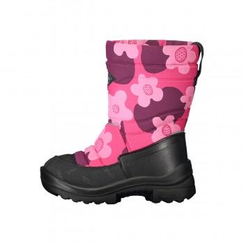 KUOMA Putkivarsi pink flower winterboots 1203-3726