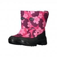KUOMA Putkivarsi pink flower WOOL lining 1303-3726