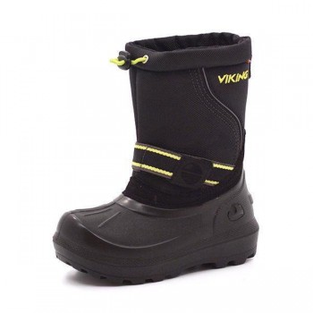 VIKING STALIS black/lime with warm lining thermo rubberboots 5-26100-288