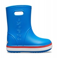 Crocs™ CROCBAND RAIN BOOT KID'S Bright Cobalt/Flame 205827-4KD